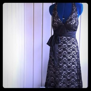 WHBM  black cocktail dress size 2